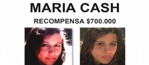Anuncio desaparición de María Cash
