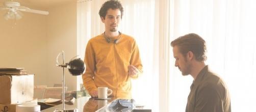 Damien Chazelle directs Ryan Gosling in 'La La Land.' ~ Activités culturelles UdeM/Wikimedia Commons