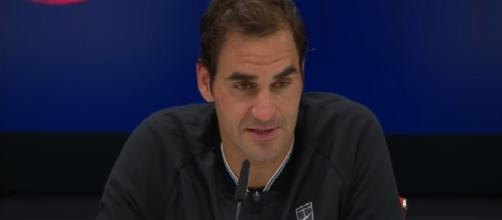 Federer during a press conference at 2017 US Open/ Photo: screenshot via s4ythl channel on YouTube