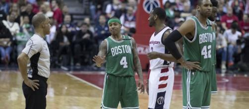 Isaiah Thomas sends a motivational message to LeBron James. Image Credit: Keith Allison / Flickr