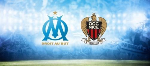 Logo de l'OM ainsi que l'OGC Nice