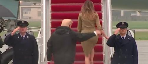 Melania Trump on stilettos again! Image[Based Patriot-YouTube]