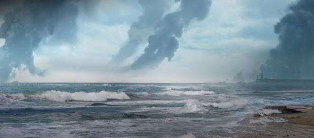 La spiaggia di Dunkirk, dove il mare raccoglie la speranza di chi sopravvive e l'angoscia di chi non ce la fa