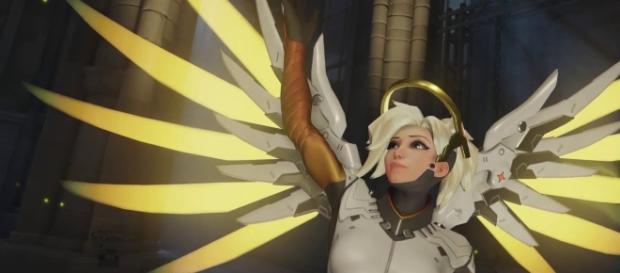 'Overwatch' hero Mercy. (image source: YouTube/Konshu)