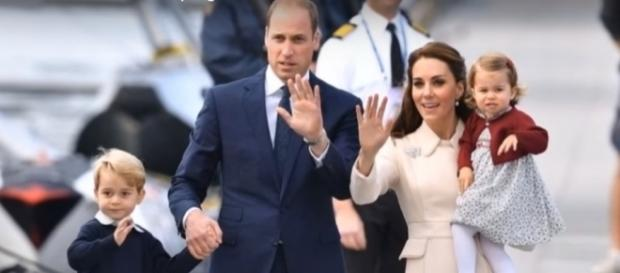 Prince William and Kate Middleton with Prince George and Princess Charlotte- (YouTube/News 247)