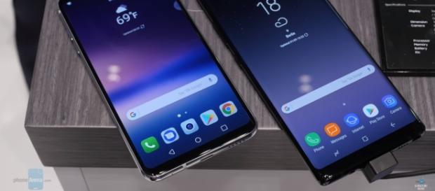 Samsung Galaxy Note 8 vs. LG V30: Specs comparison in detail- PhoneArena/YouTube screenshot