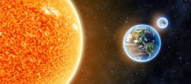 Se o sol se aproximasse da Terra, a água presente em nosso planeta iria evaporar