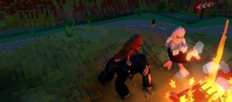 In-game screenshot of Lego Worlds [image credit: PlayStation Store]