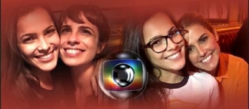 Emilly Araújo com Debora Seco e Maria Ribeiro
