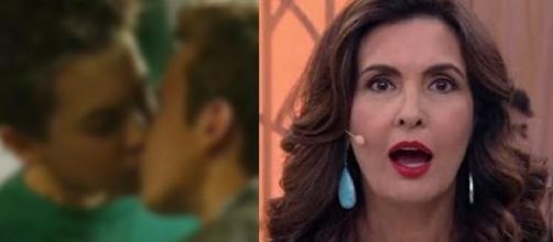 Fátima Bernardes não disse que a próxima novela da Globo terá beijo gay