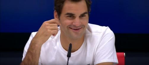 Federer during a press conference at 2017 US Open/ Image - E Latifovich channel | YouTube