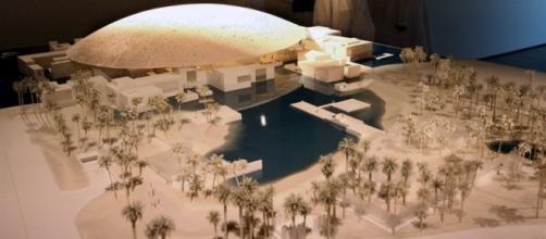 Il plastico del Louvre Abu Dhabi di Jean Nouvel (fonte: La Repubblica)