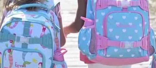 Is your child's backpack too heavy and worn properly? [Image: Pottery Barn Kids/YouTube screenshot]