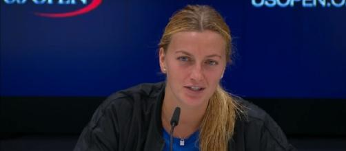 Petra Kvitova during a press conference at 2017 US Open/ Photo: screenshot via US Open Tennis Championships official channel on YouTube