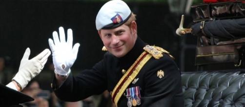 Prince Harry waving at the crowd / Photo via Carfax2, Wikimedia