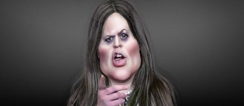 White House Liar Sarah Huckabee-Sanders https://www.flickr.com/photos/donkeyhotey/35050142234