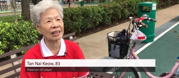 84-year-old 'Pokemon Go' player has already caught 370 Pokemon! (TODAYOnline/YouTube Screenshot)