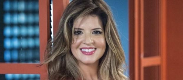 A atriz Mariana Santos como a personagem Maria Pia de ''Pega Pega''
