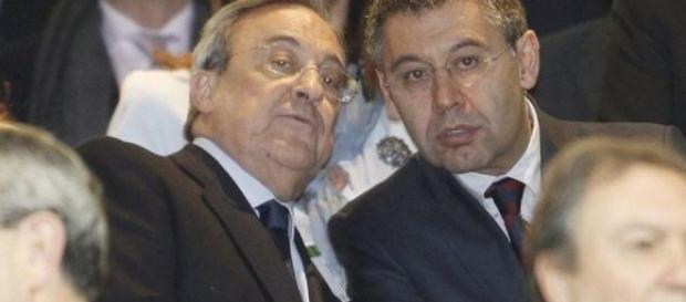 Florentino Pérez i Josep Maria Bartomeu | We Love Barça - weloba.com
