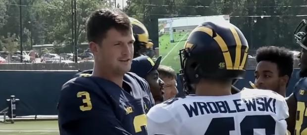 62fd31faf05c7 Wilton Speight and the Wolverines are now in the Top 10.  Image via BTN