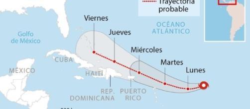 Aumentan los vientos del Huracán Irma, de categoría tres, según el ... - com.ni