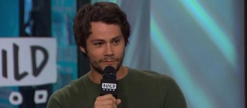 "Dylan O'Brien at the BUILD Series NYC Studio talking ""American Assassin"" - YouTube/BUILD Series channel (screenshot)"