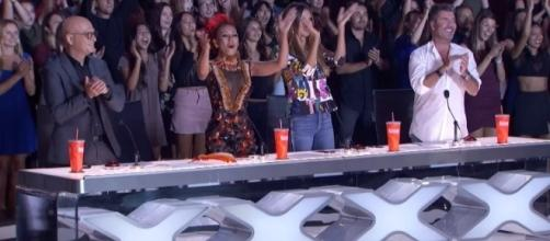 Judges in standing ovation, Image Credit: America's Got Talent, YouTube