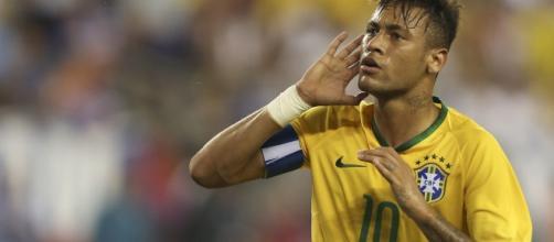 Neymar celebrando un gol (vía taringa.net).