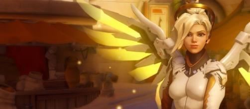 "On ""Overwatch"" PTR, Mercy's ultimate ability has been changed to Valkyrie (via YouTube/PlayOverwatch)"
