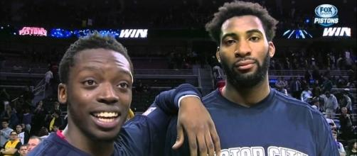 Reggie Jackson and Andre Drummond (via YouTube - FOX SportsDetroit)