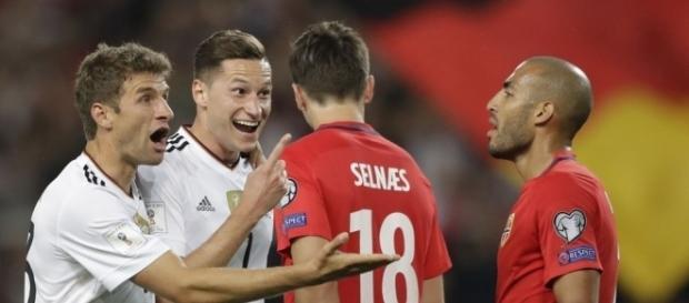 Germany players celebrates a goal wikimedia.org