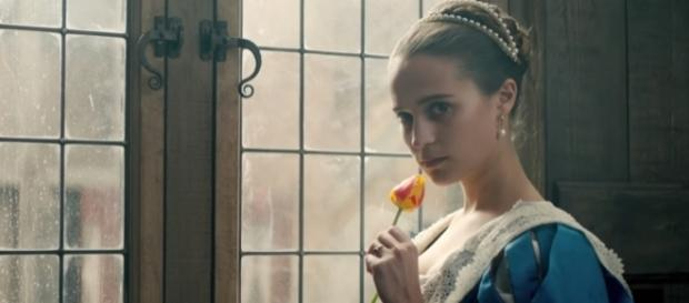 Screenshot of Alicia Vikander in 'The Tulip Fever' from Tulip Fever Trailer #1 (2017) | Movieclips Trailers (YouTube/Movieclips Trailers)