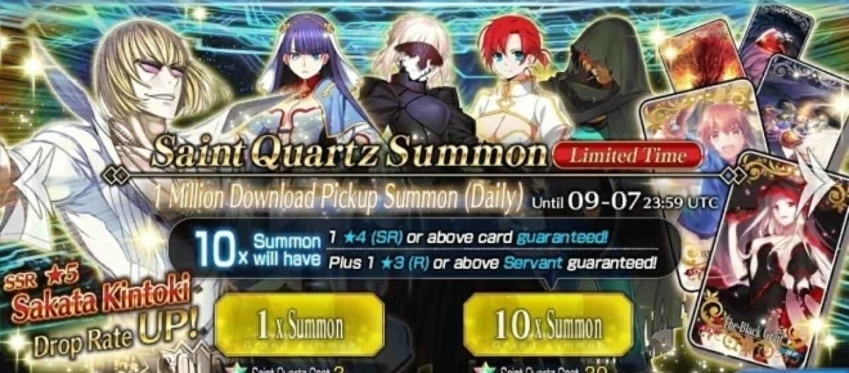 Fate/Grand Order' 1-million download campaign prizes