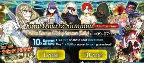 Have you saved up enough Saint Quartz to roll your favorite Servants? (via Youtube/Breakers HQ)