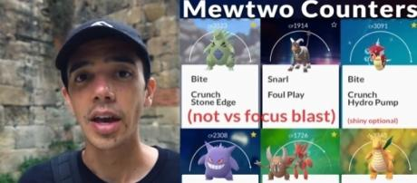 YouTube channel Trainer Tips on possible Mewtwo counters - YouTube/Trainer Tips