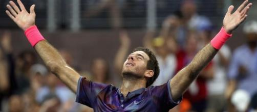 Après un match intense, Juan Martin Del Potro savoure sa qualification en demi-finale de l'US Open (Crédit photo : AFP)