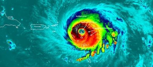 Hurricane Irma heading for Puerto Rico and Florida - Photo by NASA