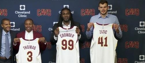 Isaiah Thomas is introduced by the Cleveand Cavs