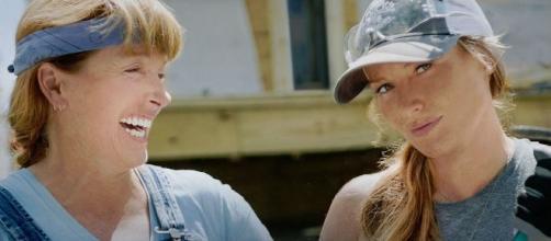 Karen Laine and Mina Starsiak-Hawk from HGTV series Good Bones. Image via HGTV, used with permission.