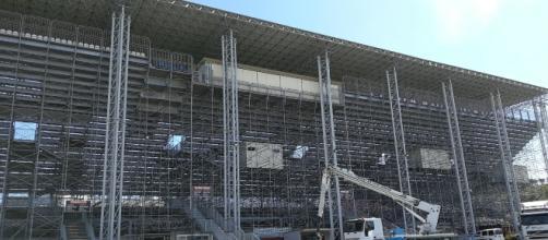 """La tribuna dello stadio """"Ezio Scida"""""""