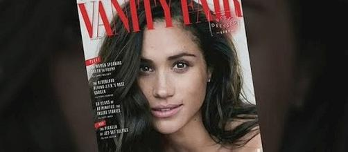 Meghan Markle is on cover of October issue of Vanity Fair [Image: E! News/YouTube screenshot]