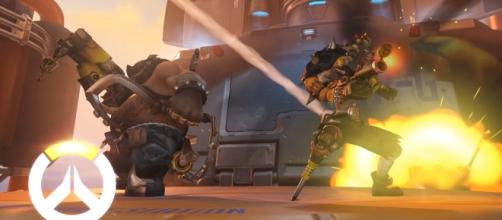 "The new ""Overwatch"" comic ""Wasted Land"" features the two Australian villains Roadhog and Junkrat (via YouTube/PlayOverwatch)"