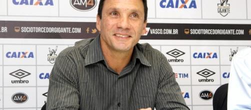 Zé Ricardo técnico do Vasco, que venceu em sua estreia