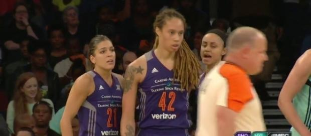 Brittney Griner and the Mercury host the Seattle Storm in a first-round playoffs matchup on Wednesday night. [Image via WNBA/YouTube]