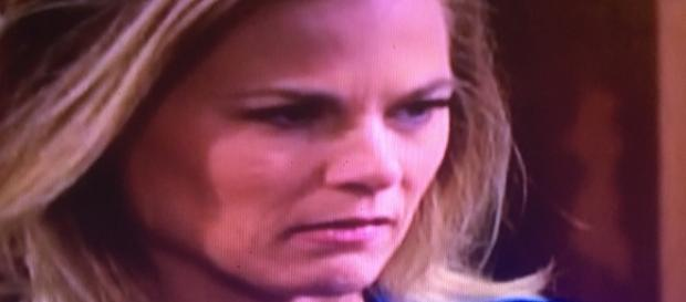 Phyllis is angry at Victoria. The Young and the Restless. CBS/WDBJ television screenshot. Cheryl E Preston