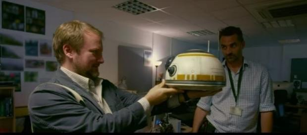 "Rian Johnson on the set of ""Star Wars: The Last Jedi."" (Photo:YouTube/Star Wars)"