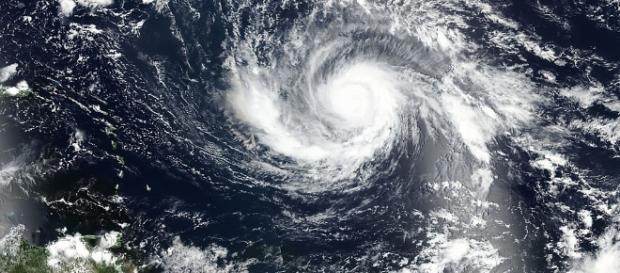 Satellite image of Hurricane Irma : Image via Wikipedia