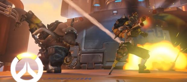 """The new """"Overwatch"""" comic """"Wasted Land"""" features the two Australian villains Roadhog and Junkrat (via YouTube/PlayOverwatch)"""