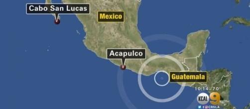 A magnitude 8.4 earthquake has struck off Mexico's southwestern coast [Image: YouTube/CBS Los Angeles]