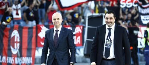 Gli uomini di mercato del Milan, a sinistra Fassone e a destra Mirabelli